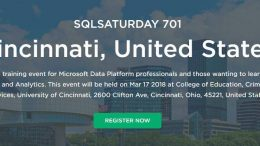 SQL Saturday Cincinnati