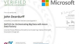 Azure Data Factory Microsoft Professional Program