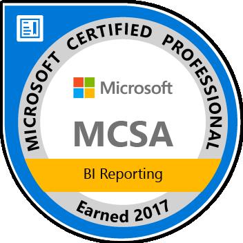 MCSA: BI Reporting