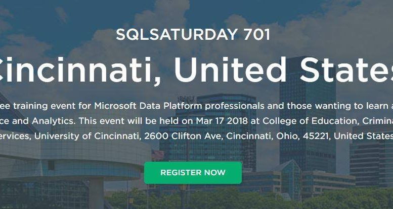 SQL Saturday Cincinnati