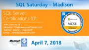 SQL Saturday Madison
