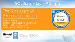 SQL Saturday Atlanta May