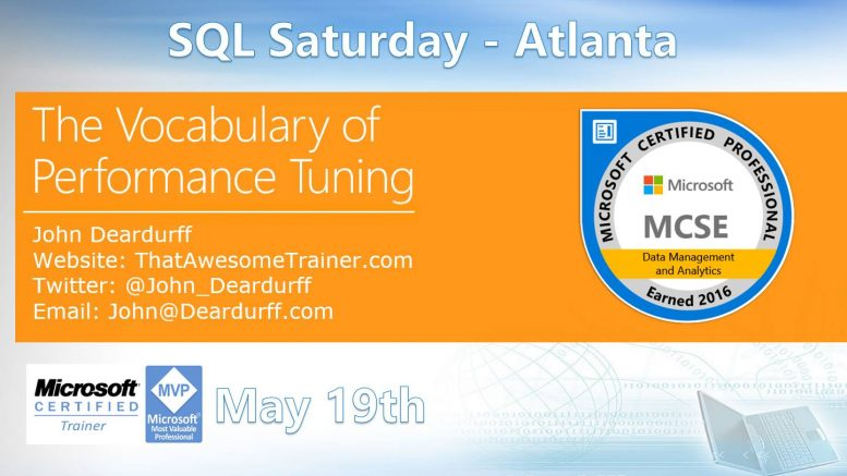 SQL Saturday Atlanta May