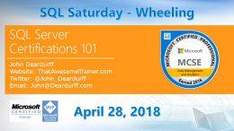SQL Saturday Wheeling