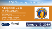 SQL Saturday Nashville 2019 Deardurff